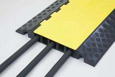 Heavy Duty Cable Protector (5 Channels) Speed Bump Yellow & Black 1 Year Warr...