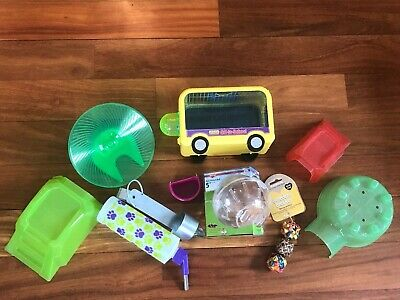 Hamster Gerbil Small Animal Pet Supplies Accessories Cage Wheel Hut Stairs Ball