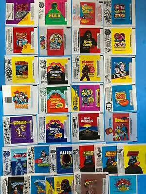 Topps And Donruss Nonsport Wrapper Collection 1970's Vintage