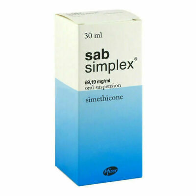 Anti-colic drops for babies infants simethicone SAB SIMPLEX 30ml Pfizer