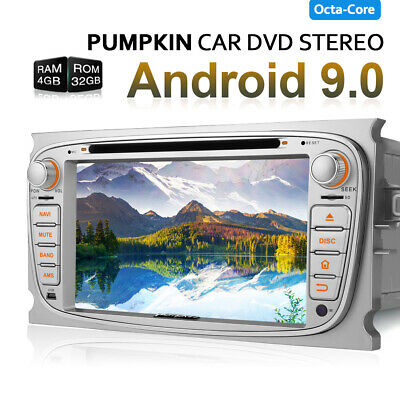 """7""""Android 9.0 Car Radio Stereo 4GB 32GB DVD GPS Navi DAB+ for Ford Focus Mondeo"""