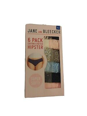 Jane and Bleecker Womens Cotton Stretch Hipster Panties Assorted Set of 10 C42