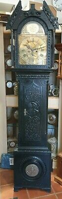 Antique Ebonised 8 Day Grandfather Clock, Mosley of Cumberworth
