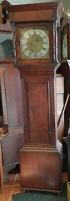 Antique Oak and Mahogany Grandfather Clock by Lawrie of Carlisle