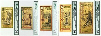 UTAH GOLDBACK 5 Piece Collection PMG 70 First Day of Issue