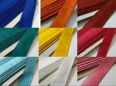 Small 3mm Satin Bias Binding Tape Insertion Cord Flange Piping Polly Cotton Silk