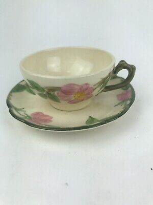 Vtg Franciscan Desert Rose Coffee Tea Cup and Saucer Made in U.S.A.