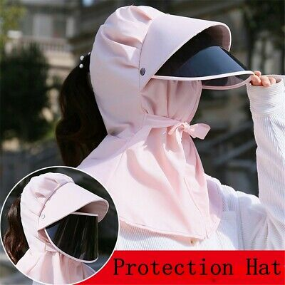 Sun Visor Hat Full Face Cover Safety Shield Eye Protect Anti-Spit Saliva -50%OFF