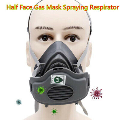 Safety Half Face Gas Mask Painting Spraying Working Protect Facepiece Respirator