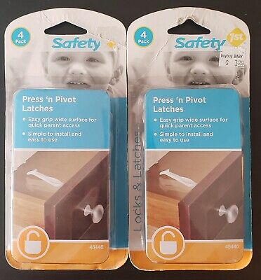 lot of 2 Safety 1st press n pivot latches