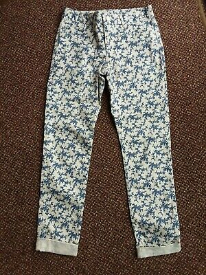 Bnwot - Gap Girls - Blue/White Patterned Trousers - Age 12 Years