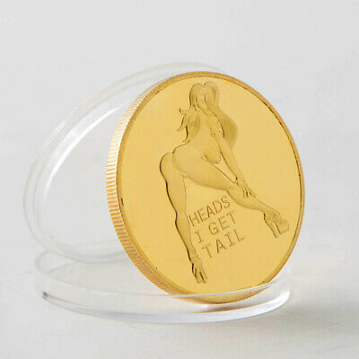 Double Side Sexy Woman Coin Adult Challenge Lucky Girl Commemorative Coins
