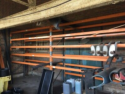 Industrial Racking 2x 3 Metre Bay Section 3 Uprights 10 Beams