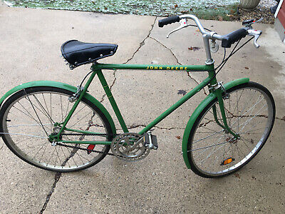 "VINTAGE JOHN DEERE BICYCLE - GREEN Original 3-Speed 21"" Frame JD Men's Tour Bike"