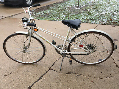 "VINTAGE JOHN DEERE BICYCLE - WHITE Original 5-Speed 19"" Frame JD Touring Bike"