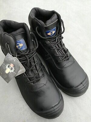 Pro Man PM4008 Black Waterproof Steel Toe Cap Safety Boots Work Boot size 15