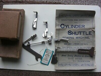 Vintage Jones Sewing Machine Operating Book And Parts