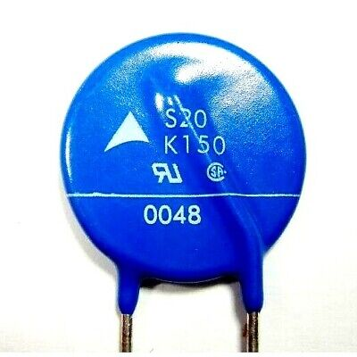 Ships free and fast !!! 1 X: NEW !!! S20k150 Metal Oxide Varistor 20a 150v