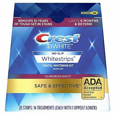 Crest3D Whitestrips Glamorous White Teeth Whitening Strips - 7 Pouches