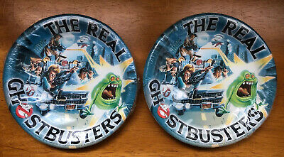 The REAL GHOSTBUSTERS Paper Plates Hallmark ~ NEW! ~ LOT OF 2