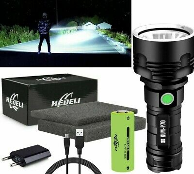 Super Bright 90000lm Flashlight Cree LED P70 Usb Rechargeable Torch Tactical