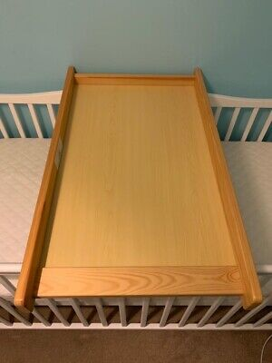 BabyStart Solid Pine Baby Changer Top Fr Drawers Table Top Diaper Nappy Changing