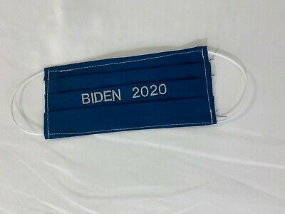 Biden 2020 Embroidered Face Mask Handmade Fabric Washable Reusable wire nose
