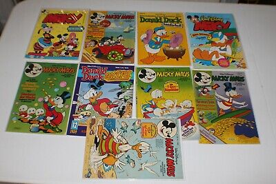 Lot German Disney Mickey Mouse Donald Duck Vintage Foreign Comics Miky