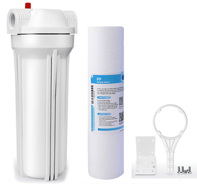 RV & Marine Inline Water Filter with Flexible Hose Protector Reduces Chlorine