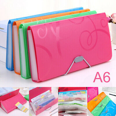 13 Pocket A6~Expanding File Folder Paper Document Organiser Storage Holder