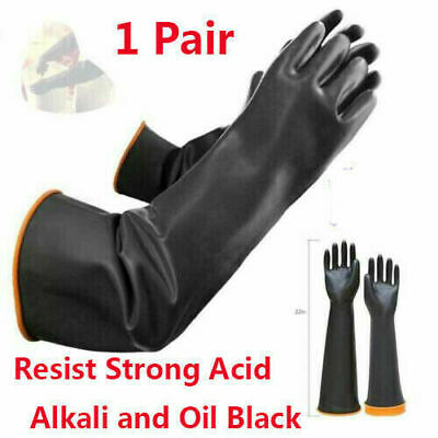 45/55cm~Long-Gloves Rubber PPE Latex Gauntlets Anti Chemical Industrial Gauntlet