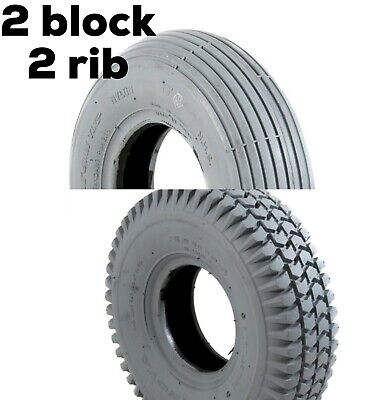 Set of 4 solid PUNCTURE PROOF TYRES  260 x 85 3.00-4 300x4 for Mobility Scooter
