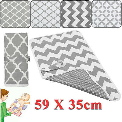 Baby Diaper Changing Mat Pad Portable Waterproof Foldable Travel Nappy 59 x 35CM