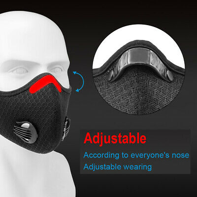 Activated Carbon Face Shield with filter Sports Cycling Outdoor Face Cover New