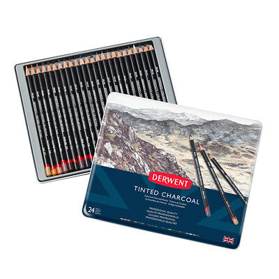 Derwent Tinted Charcoal Pencil Tins