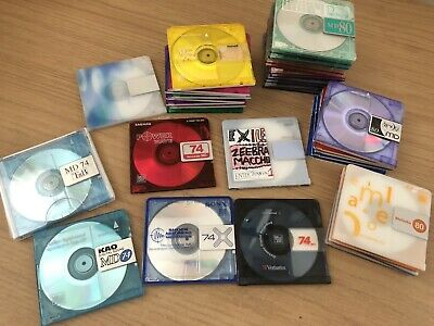 36x Minidiscs Various Types And Colors (Japanese Rare)