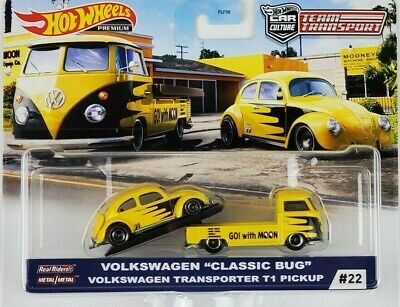 Hot Wheels 2020 Car Culture Team Transport VW Classic Bug  Transporter T1 Pickup