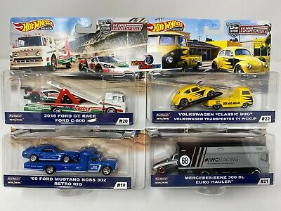 Complete 4 Car Set * 2020 Hot Wheels Team Transport Case H w/ Mooneyes & 300 SL