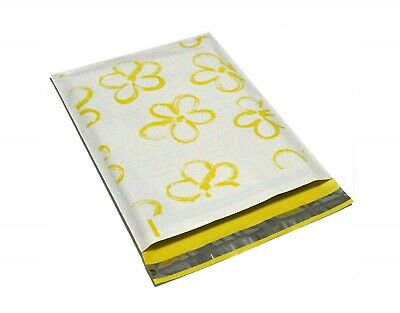 200  Yellow 10x13 Flower Designer Poly Mailers Shipping Envelope  Shipping Bags