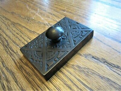 Ornate Antique Eastlake Brass Cast Iron Paperweight Victorian Desk Top Holder