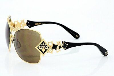 New Affliction Sunglasses Angelina Antique Gold/Bronze, with Case, Tag, and Box