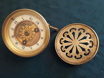 19th Century French R.S.and Company striking clock movement & back