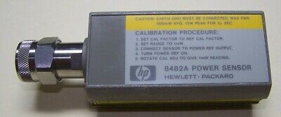 HP 8482A power sensor 1MHz-4GHz .3uW to 100mW fully tested and ready for work!