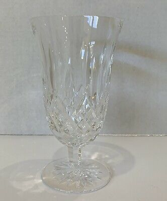 """Waterford Crystal Lismore Iced Tea Stemmed Beverage Glass 12 Ounce 6 1/2"""" Goblet"""