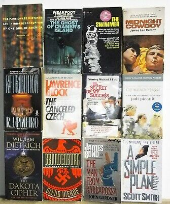 Lot of 12 POPULAR BEST SELLER NOVELS Free US Shipping Read List Lot #H397