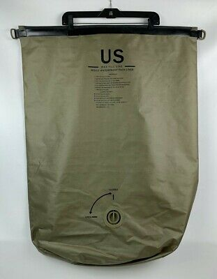 New US Army Military MOLLE Waterproof Pack Rucksack Liner Assembly Large Tan 65L