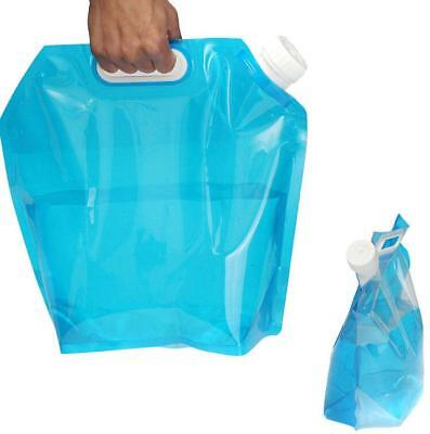 5L Foldable Drinking Water Container Camping Hiking Picnic Storage Lifting Bag G