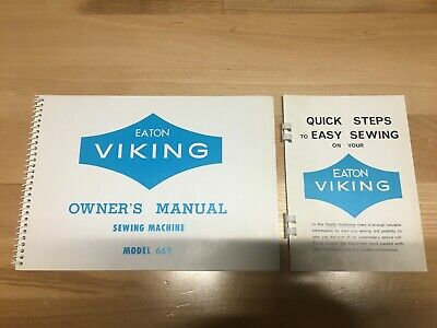 Eaton Viking Owner's Manual for Sewing Machine Model 669 + reference book