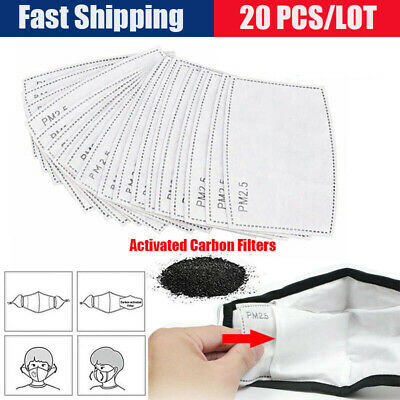 UK Face Mask Activated Carbon Filter Replace Breath Insert Masks Filters PM2.5