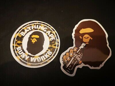 X2 Bathing Ape Bape Coke Vinyl Stickers Skate Skateboarding/Scooter/laptop